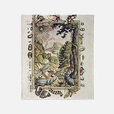 1731 Johann Scheuchzer Creation 5/6t Throw Blanket