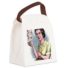 Rosalind Franklin, British chemis Canvas Lunch Bag