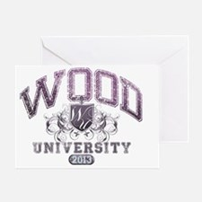 Wood last name University Class of 2 Greeting Card