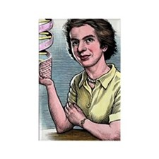 Rosalind Franklin, British chemis Rectangle Magnet