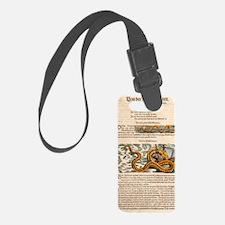 1558 Gessner Sea Serpent Luggage Tag