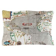 Sir Francis Drake's voyage 1585-1586 Pillow Case