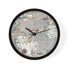 Sir Francis Drake's voyage 1585-1586 Wall Clock