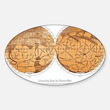 Schiaparelli's map of Mars, 1877-18 Decal