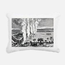 Victoria Falls, 19th cen Rectangular Canvas Pillow