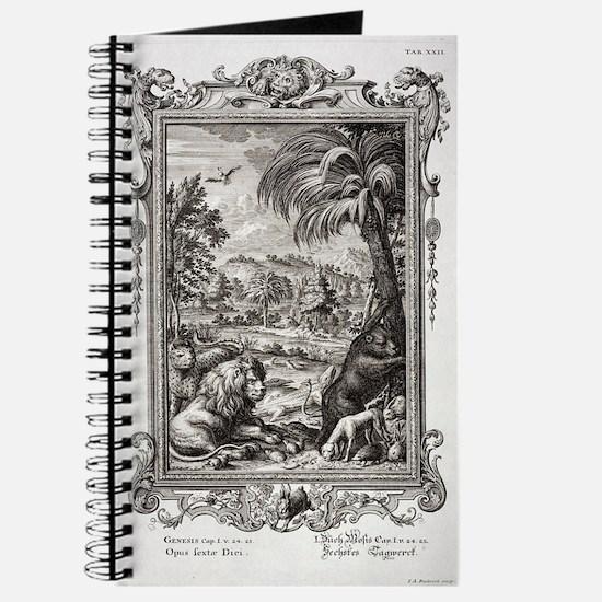 1731 Johann Scheuchzer Creation 6th day Journal