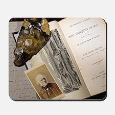1863 Lyell's Antiquity of Man desktop Mousepad