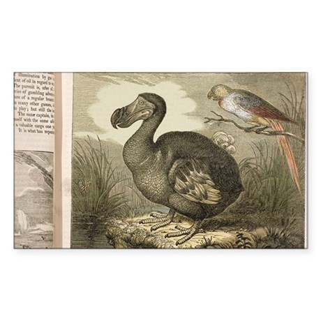 1833 Fat Dodo from the Penny M Sticker (Rectangle)