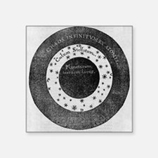 "Aristotelian cosmology, 17t Square Sticker 3"" x 3"""