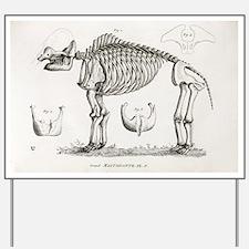 1812 American Mastodon Jefferson mammoth Yard Sign
