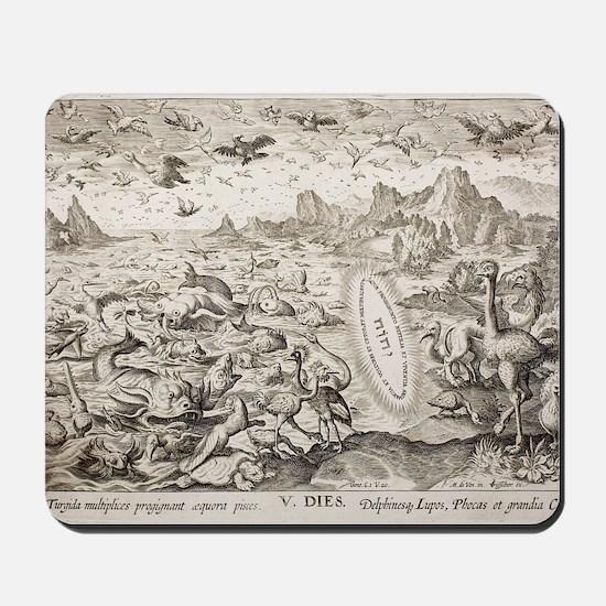 1674 Animal Creation According to Genesi Mousepad