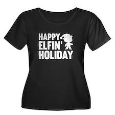 Happy Elfin' Holiday T