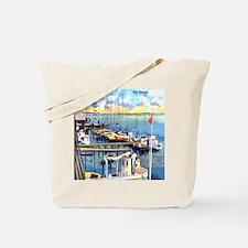 Vintage Biloxi Shrimp Oyster Boat Postcar Tote Bag