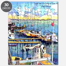 Vintage Biloxi Shrimp Oyster Boat Postcard  Puzzle