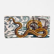 1558 Gessner Sea Serpent at Aluminum License Plate