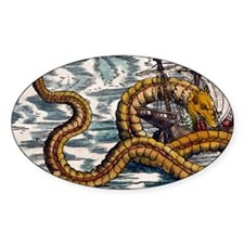 1558 Gessner Sea Serpent attacks sh Decal