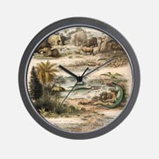 1849 The antidiluvian world by reynolds Wall Clock