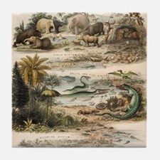 1849 The antidiluvian world by reynol Tile Coaster