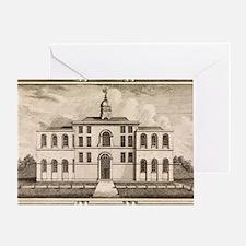 18th C engraving of smallpox hospita Greeting Card