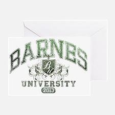 Barnes last name University Class of Greeting Card