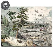 1833 Penny Magazine extinct animals crop Puzzle