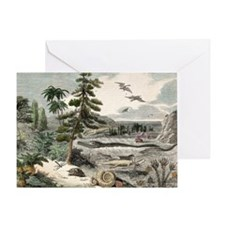 1833 Penny Magazine extinct animals  Greeting Card