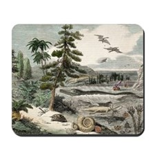 1833 Penny Magazine extinct animals crop Mousepad