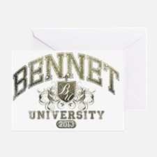 Bennet Last Name University Class of Greeting Card