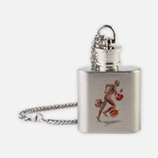 Athlete physiology, artwork Flask Necklace