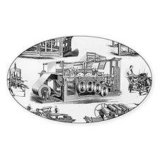 19th Century Printing Machines Decal