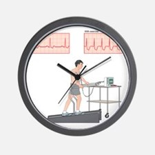 Cardiac stress test, artwork Wall Clock
