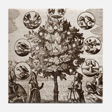 Alchemical tree, Philosophia reformat Tile Coaster