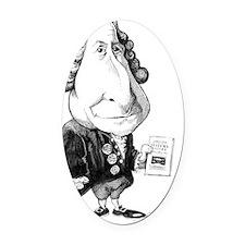 Carl Linnaeus, Swedish botanist Oval Car Magnet