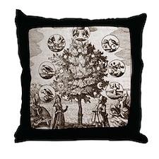 Alchemical tree, Philosophia reformat Throw Pillow