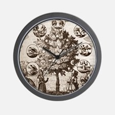 Alchemical tree, Philosophia reformata Wall Clock