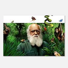 Charles Darwin, British n Postcards (Package of 8)