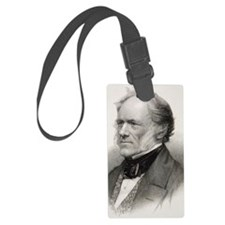 Charles Lyell portrait engraving Luggage Tag