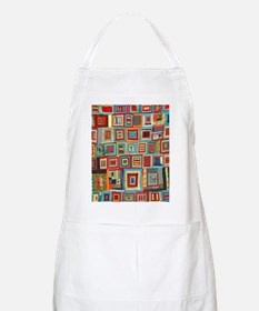 Colorful Crazy Quilt Flip Flops Apron