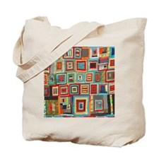 Colorful Crazy Quilt Flip Flops Tote Bag