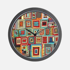 Colorful Crazy Quilt Flip Flops Wall Clock