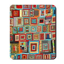 Colorful Crazy Quilt Flip Flops Mousepad