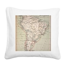 Darwin's Beagle Voyage Map So Square Canvas Pillow