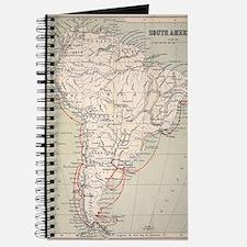Darwin's Beagle Voyage Map South America Journal