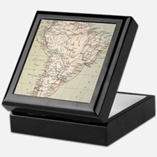 Darwin's Beagle Voyage Map South Amer Keepsake Box