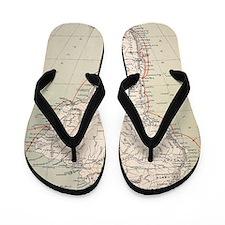Darwin's Beagle Voyage Map South Americ Flip Flops