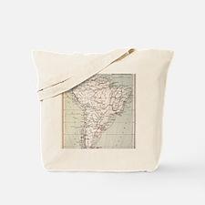Darwin's Beagle Voyage Map South America Tote Bag