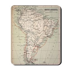 Darwin's Beagle Voyage Map South America Mousepad