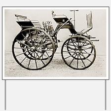 Early car, 1886 Daimler Yard Sign