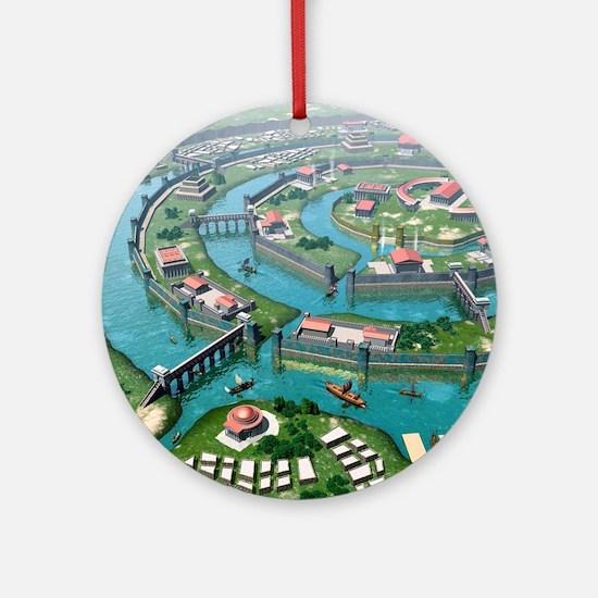 Atlantis, artwork Round Ornament