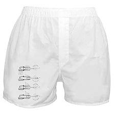 19th Century internal combustion engi Boxer Shorts